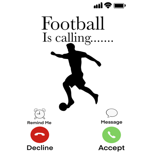 """Football Is Calling"""" - White Mug - Add your own text"""