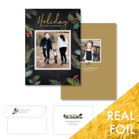 Holiday Peace & Happiness<br>5x7 Foil<br>Envelope