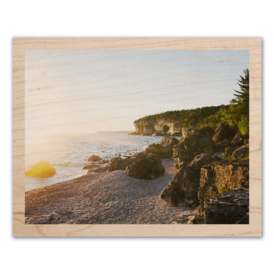 11x14 Wood Print with Narrow Border