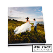 11x14 Flush Mount Hardcover Photo Book / Metallic Paper (22-30 Pages)