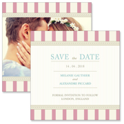 Vintage C - 2 Sided Save the Date  6x6