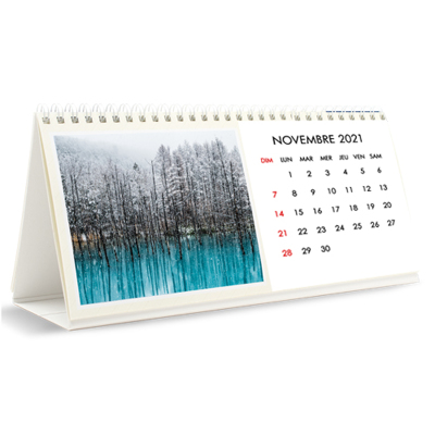 Calendrier de bureau - 12 mois (10x4.5) 2021