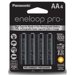 Panasonic-Paquet de 4 Batteries AA Eneloop Pro-Piles