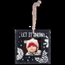 Slate Square Ornament, Let it Snow