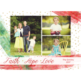 Faith Hope Love Brush Strokes