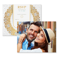 Luxury - 2 Sided RSVP  4x5