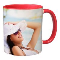 11oz Red Handle & Inner Photo Mug