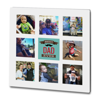 "Premium Gloss Chromaluxe 8x8"" Father's Day Collage"