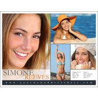Headshot 8½x11 with 4 Photos - Style HC