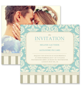 Vintage A - 2 Sided Invitation