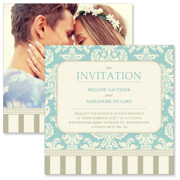 Vintage A - 2 Sided Invitation  6x6
