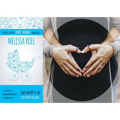 Baby Shower Card V - 1 Sided