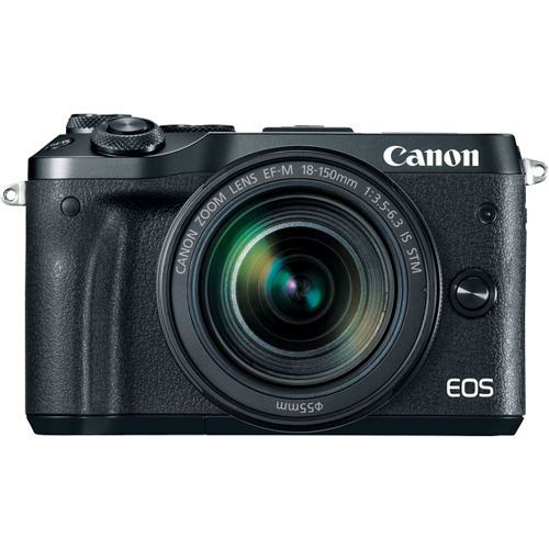 Canon-EOS M6 Interchangeable Lens Camera with EF-M 18-150mm f3.5-6.3 IS STM Lens-Digital Cameras