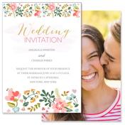 Floral - 2 Sided Invitation