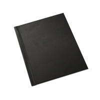 8.5 x 11 (Unibind) Black Leatherette