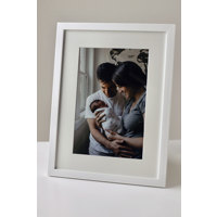 350x475mm White Frame -Vertical  (20mm) with 50mm Snow White cut-out mount over a 250x375mm print.