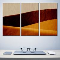 Laminage sur bois en 3 panneaux