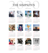 12 x 18 Poster Calender with 12 images