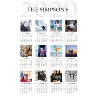 12 x 18 Poster Calender -12 images