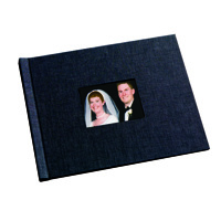 8.5 x 11 Black Linen Photo Book with Window