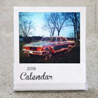 White Border Desktop Calendar 2018