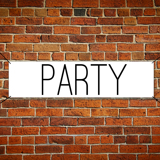 2 ft x 6 ft Paper Party Banner Horizontal