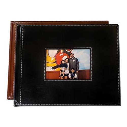 Book Classic Leather w/ White Stitching Window 8.5x11