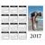 Calendrier horizontal 1 page 2017 - 8 x 10 (français)