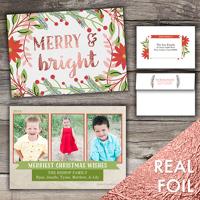 Christmas Time<br>5x7 Foil<br>Envelope