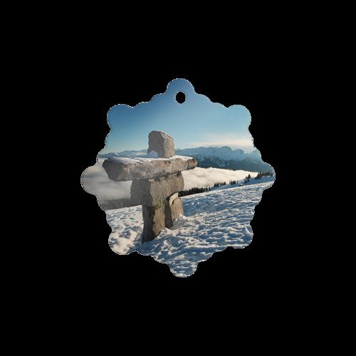 Metal Ornament Snowflake
