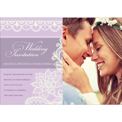 Lace A- 1 Sided Invitation