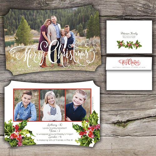 Merry Christmas<br>5x7 Classic<br>Envelope