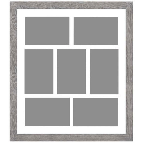 Malden-4x6 7 Opening Gray Distressed Collage Frame-Photo Frames