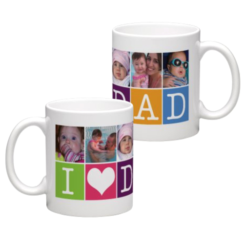 White Coffee Mug 11oz (wrap) Dad-E