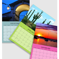 8.5x11 Calendar - 12 pictures (FRENCH) 2020