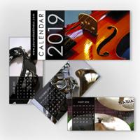 10x5 Desktop Calendar - 1 Image per page - (Dark Background)
