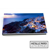 16x12 Flush Mount Hardcover Photo Book / Metallic Paper (22-30 Pages)