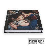 8x8 Layflat Hardcover Photo Book / Metallic Paper (22-40 Pages)