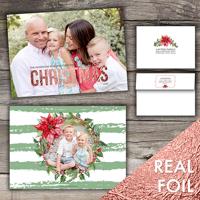 Christmas Wreath<br>5x7 Foil<br>Envelope