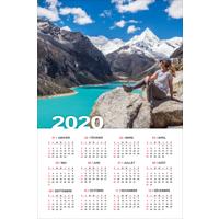"""Affiche d'un calendrier 2020 (12""""x18"""") - Vertical"""