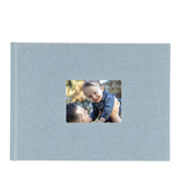 8.5x11 Hardbound Linen Book with Keyhole (Baby Blue)