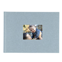 8.5x11 Hardbound Linen Book with Keyhole (Baby Blue)