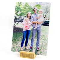 5x7 Mini Metal w/ Bamboo Pedestal