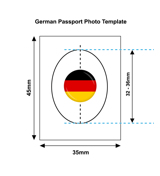 German Passport Photo Templates