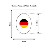 German Passport Photo Templates