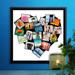 12 x 12 Framed Canvas Heart Collage - 20 photos
