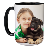 15oz Black Handle & Inner Photo Mug 2 images