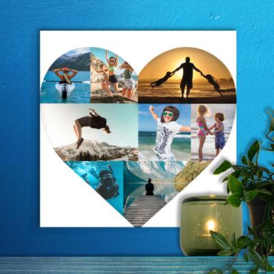 12 x 12 Heart Collage (8 photos)