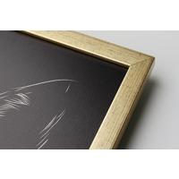 300x450mm Framed Metal Print - Gold 20mm Frame - Horizontal