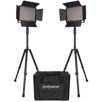 ProMaster-LED1000B Specialist LED 2 Light Transport Kit - Bi-Color #1882-Studio Lighting Kits